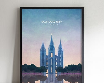 "8""x10"" - Salt Lake City Temple Print"