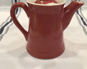 Vintage Hall Single Serve Teapot in Maroon
