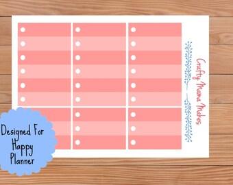 Pink Circle Check List Boxes - Planner Stickers - Sticker - Happy Planner - Erin Condren - Planner