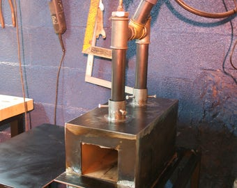 Double burner propane forge