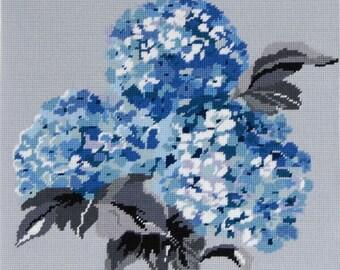 DMC Tapestry Canvas C20N67/2 Blue Hydrangeas (Canvas only)