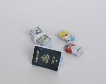 "1:6 Scale Passport Cigarette Packs Cash 12"" Action Figure Toy Soldier Accessory"