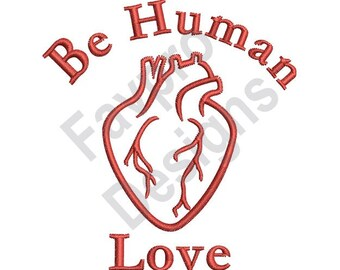 Human Love - Machine Embroidery Design