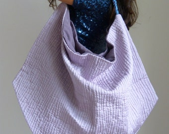 slouchy hobo shoulder bag, oversized fabric handbag one of a kind
