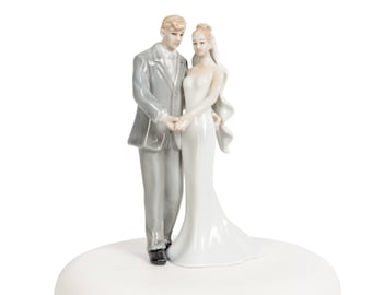 Elegant Porcelain Wedding Bride and Groom - 707522