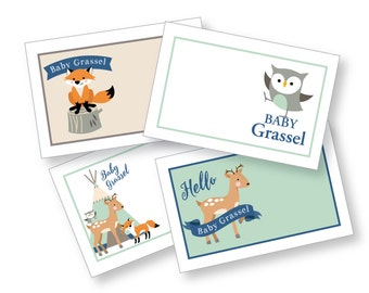 Woodland Food, Name, Tent Cards or Labels - Customized Printable DIY Place Cards
