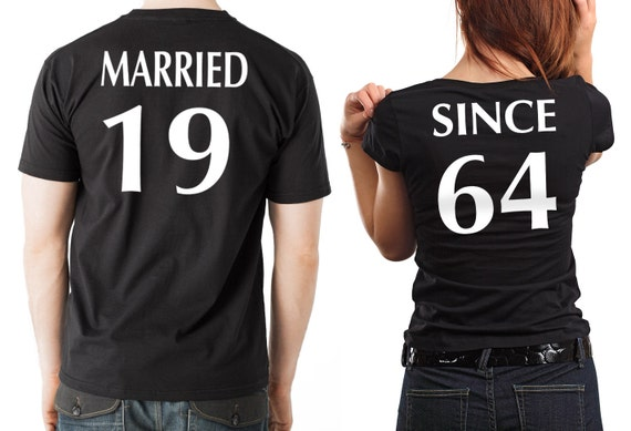 Anniversary t shirts couple tees married since anniversary