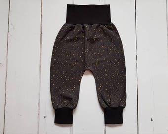 Black Baby harem pants, Baby leggings, baby joggers, Organic harem pants, Baby harem pants, Gender neutral baby, Organic baby clothes