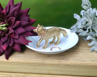 Fox Ring Holder, Animal Jewelry Holder, Catch All, Jewelry Dish, Home Decor