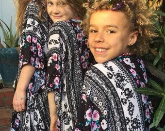 Boho Floral Kids Kimono