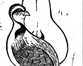 Partridge and a Pear, Christmas Card 6 Pack