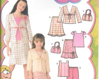 Simplicity 4669 Lizzie McGuire Child and Girls Top Skirt Jacket and Bag Pattern New (7-14)