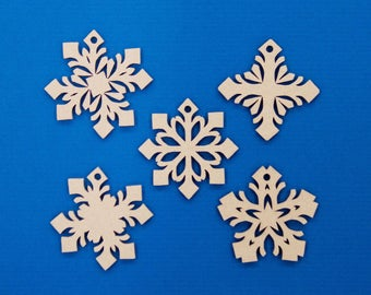 Snowflake Christmas Baubles set of 25 | Christmas Decoration | Cardboard | Cardboard Ornaments | Christmas Tree | Recycled