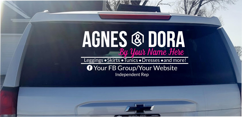 Agnes Dora Vinyl Decal Car Decal Business Logo Decal - Custom car decals businesswindow decals