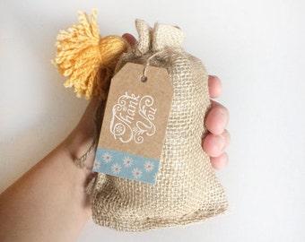 6 burlap bags - jute bags - 4x6 inches small burlap bags - wedding favors - natural burlap bag - packaging gift bag - wedding gift sack