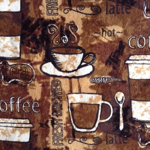 SALE - One Half Yard of Fabric Material - Coffee FLANNEL