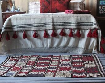 "2'9""x4'6"" Vintage Geometric Design Handwoven Wool Area Kilim,Kelim,Boho Style Kilim"