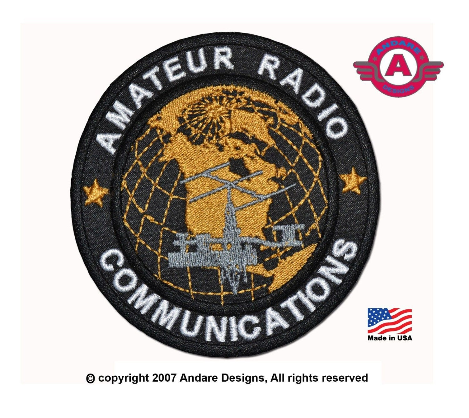 Amateur radio communications patch made in the usa iron or sew zoom buycottarizona