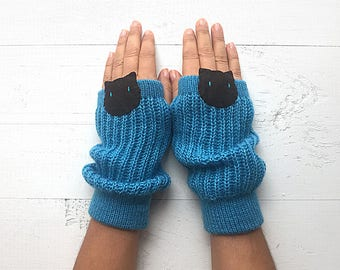 Cat Gloves, Cat Arm Warmers, Mother's Day Gift, Gift For Her, Cat Lover Gift, Pet Gift, Women Mitten, Couple Gloves, Crazy Cat Lover Gift
