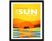 Ernest Hemingway Quote, Literature Art, Literary Quote, Dorm Decor, Literary Art Print, Writer Gift, Book Art Print, The Sun Also Rises