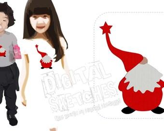 Imp Dwarf Gnome Machine Embroidery Design 3 Sizes
