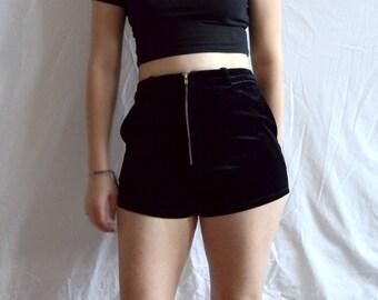 black velvet hotpants