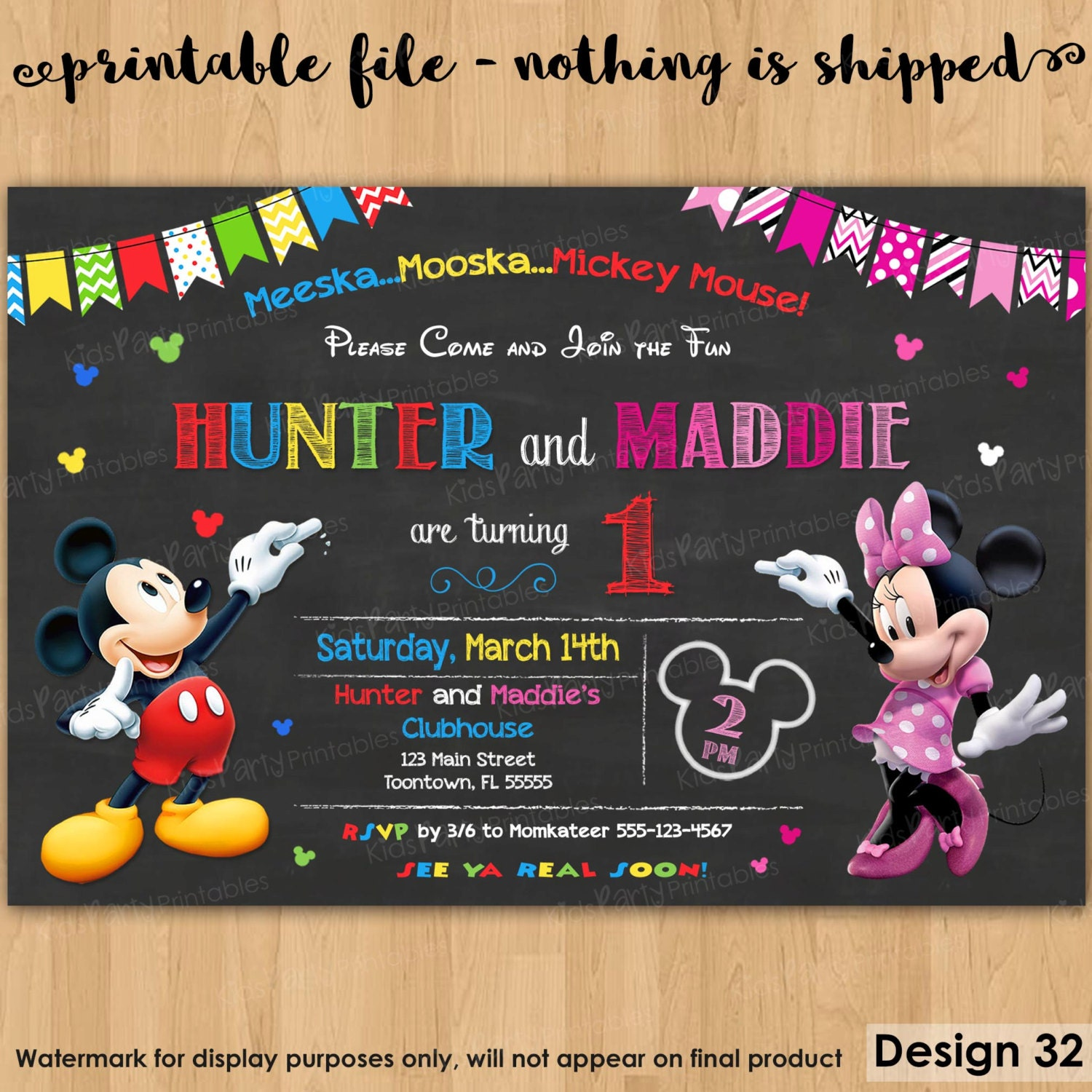 personalized mickey mouse 1st birthday invitations - Gidiye ...
