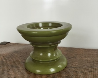 Vintage Mid Century Green Candleholder