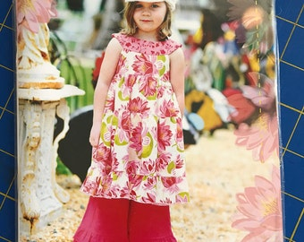 Portebellopixie Gracie Dress Jumper and Skirt pattern by Sandi Henderson size 6 pos to girls 8 boutique