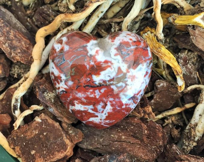 Mookaite Crystal Heart w/ Reiki