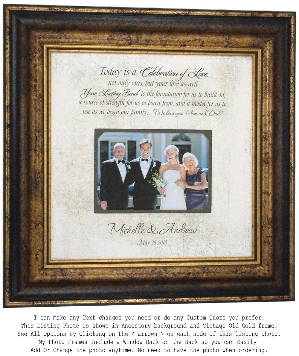 Wedding Frame: Personalized Picture Frame Wedding Photo Frame Wedding Sign
