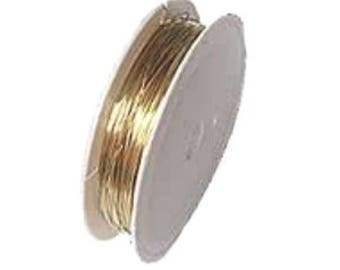 15 Meters Brass Wire - A7281 / 0.4mm Gold and Silver  Beading Thread Wire