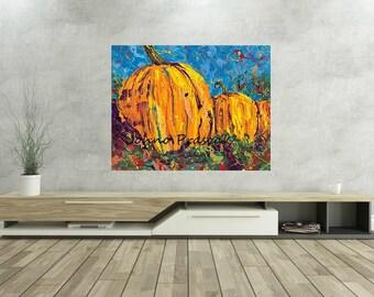 Pumpkins, Pumpkin wall art, Fall wall art, Kitchen art,  Fall decorations, Pittsburgh artist, by Johno Prascak, Johnos Art Studio