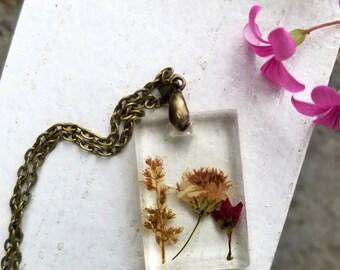 Presssed Wildflower Necklace