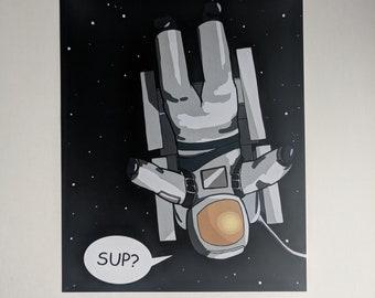 "The Casual Astronaut - 8"" x 10"" Art Print"