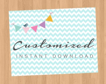 Customized Instant Download