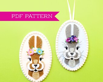 PDF Pattern, Easter Decorations, Bunny Ornament, Bunny Decoration, Easter Ornament, Easter Basket, Easter Decor, Easter Gift, Nursery Decor