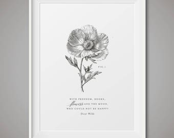 Vintage Botanical instant download print - Fig 1