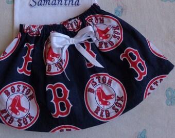 Boston Red Sox Baby Girl Skirt (6-9 m)