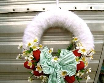 Summer Wreath, Berries N' Cream Wreath