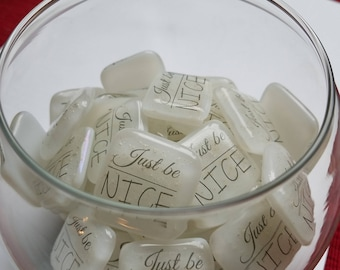 30pc 20pc 10pc Memory Stone Set with Bowl Celebration of Life Custom Pet Cremation Ashes InFused Glass Memorial Keepsake