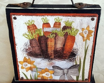 Bucket of Carrots Canvas Block of the Month SET