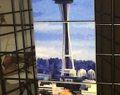 Space Needle Tile Mosaic - 3 - 6in Tiles (18 in x 6 in)