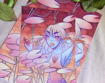 Pink Lilly Pads Print