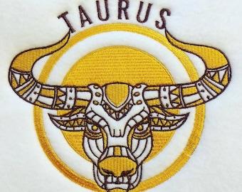 Machine Embroidery Design - Taurus Horoscope - Zodiac Collection #11