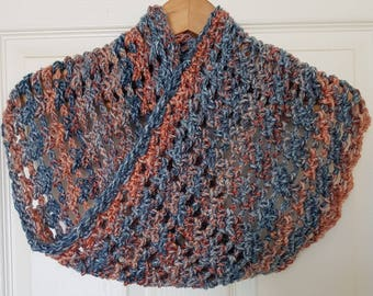 Handmade Crocheted Criss Cross Cowl/ Crocheted Cowl/ Women's Cowl/ Women's Neck Scarf / Winter Cowl/ Autumn Cowl