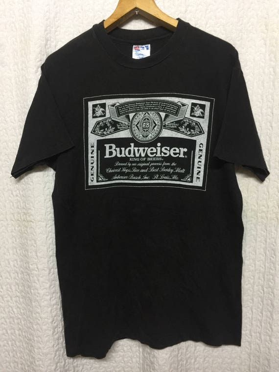 0dff5d64 On sale Budweiser tshirt top tee crewneck size M