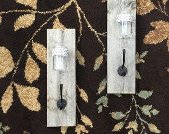 Reclaimed Wood Hook and Vase