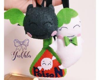 Halloween ornaments. Halloween decoration. Cute Halloween ornaments. Party favor decor. Felt Halloween toys. Halloween felt ornaments.