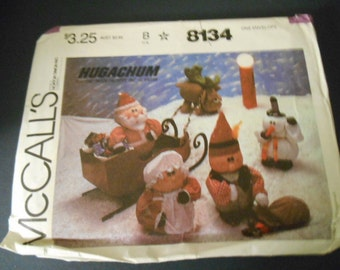 "McCalls Sewing Pattern, 8134, Hugachum, 13""-23"" tall,  Christmas Decor"
